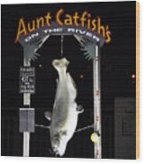 Aunt Catfish Wood Print