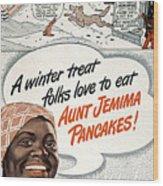 Aunt Jemima Ad, 1948 Wood Print