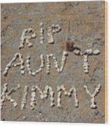 Aunt Kimmy Wood Print
