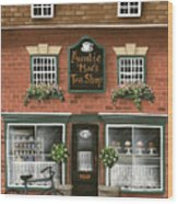 Auntie Mae's Tea Shop Wood Print by Catherine Holman