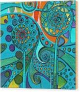 Aurora Borealis Green Wood Print