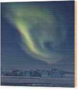 Aurora Borealis - Greenland Wood Print