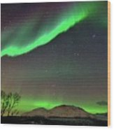 Aurora Borealis Wood Print by John Hemmingsen