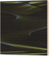 Aurora Borealis Over The Sand Dunes Wood Print