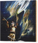 Aurora Dancer Wood Print