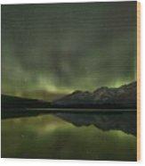 Aurora Light Beams Wood Print