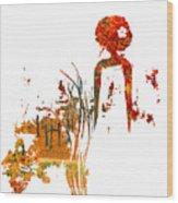 Aurora Orange Wood Print