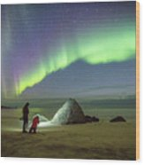 Aurora Photographers Wood Print