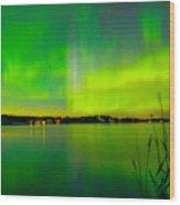 Aurora Reflection Wood Print