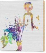 Aurora Yellow Wood Print