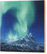 Auroral Twist Wood Print