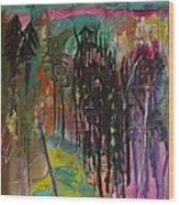 Aurora's Magic Wood Print