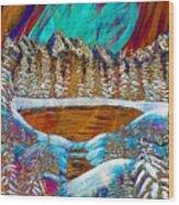 Aurora's Reflections Wood Print