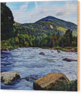 Ausable And Whiteface Wood Print