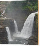 Ausable Chasm Waterfalls Wood Print