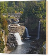 Ausable Falls Wood Print