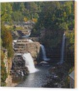 Ausable Falls Wood Print
