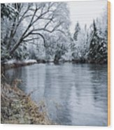 Ausable Winter Wood Print