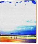 Aussie Beach Wood Print