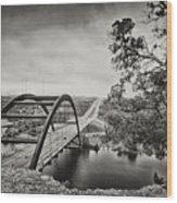 Austin 360 Bridge In Early Dawn Wood Print