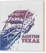 Austin 360 Bridge, Texas Wood Print