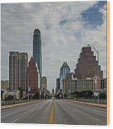 Austin From Congress Street Bridge Wood Print