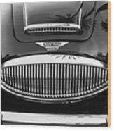 Austin Healey 3000mk II Grille - 0161bw Wood Print