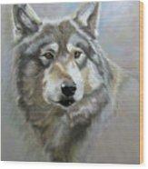 Austin's Wolf Wood Print