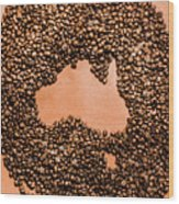 Australia Cafe Artwork Wood Print