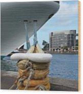 Australia - Cruise Ship Tied Up Wood Print