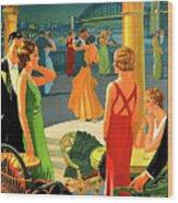 Australia, Romantic Night, Dance And Music, Hotel Terrace Wood Print