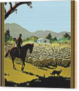 Australia, Shepherd Wood Print