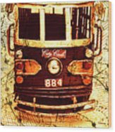 Australia Travel Tram Map Wood Print