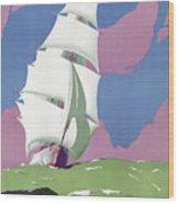 Australia Vintage Travel Poster Restored Wood Print