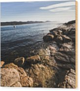 Australian Bay In Eastern Tasmania Wood Print