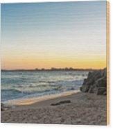 Australian Beach Sunset Wood Print