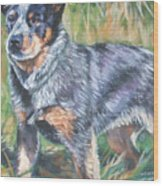 Australian Cattle Dog 1 Wood Print by Lee Ann Shepard
