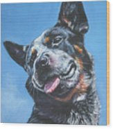 Australian Cattle Dog 2 Wood Print by Lee Ann Shepard