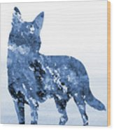 Australian Kelpie-blue Wood Print