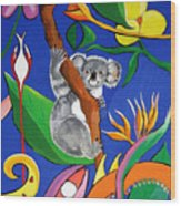 Australian Koala Wood Print
