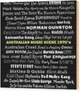Australian Music Scene 1970's No 8 Wood Print