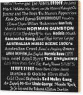 Australian Music Scene 1970's No 1 Wood Print