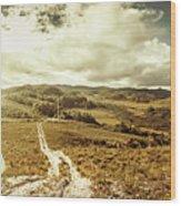Australian Rural Panoramic Landscape Wood Print