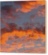 Australian Sunset Wood Print