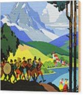 Austria Vintage Travel Poster Wood Print
