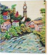Austrian Alpine Village   Wood Print