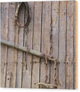 Austrian Barn Door Wood Print