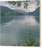 Austrian Lake Wood Print