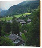 Austrian Landscape Wood Print