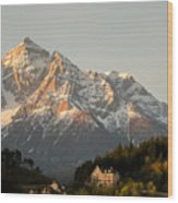 Austrian Sunrise Wood Print by Denise Darby